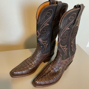 Lucchese Crocodile Caiman Tail Leather Boots N4081